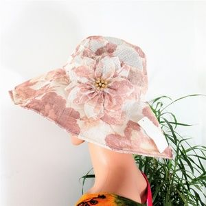 NEW! Light Airy Floral Sunhat
